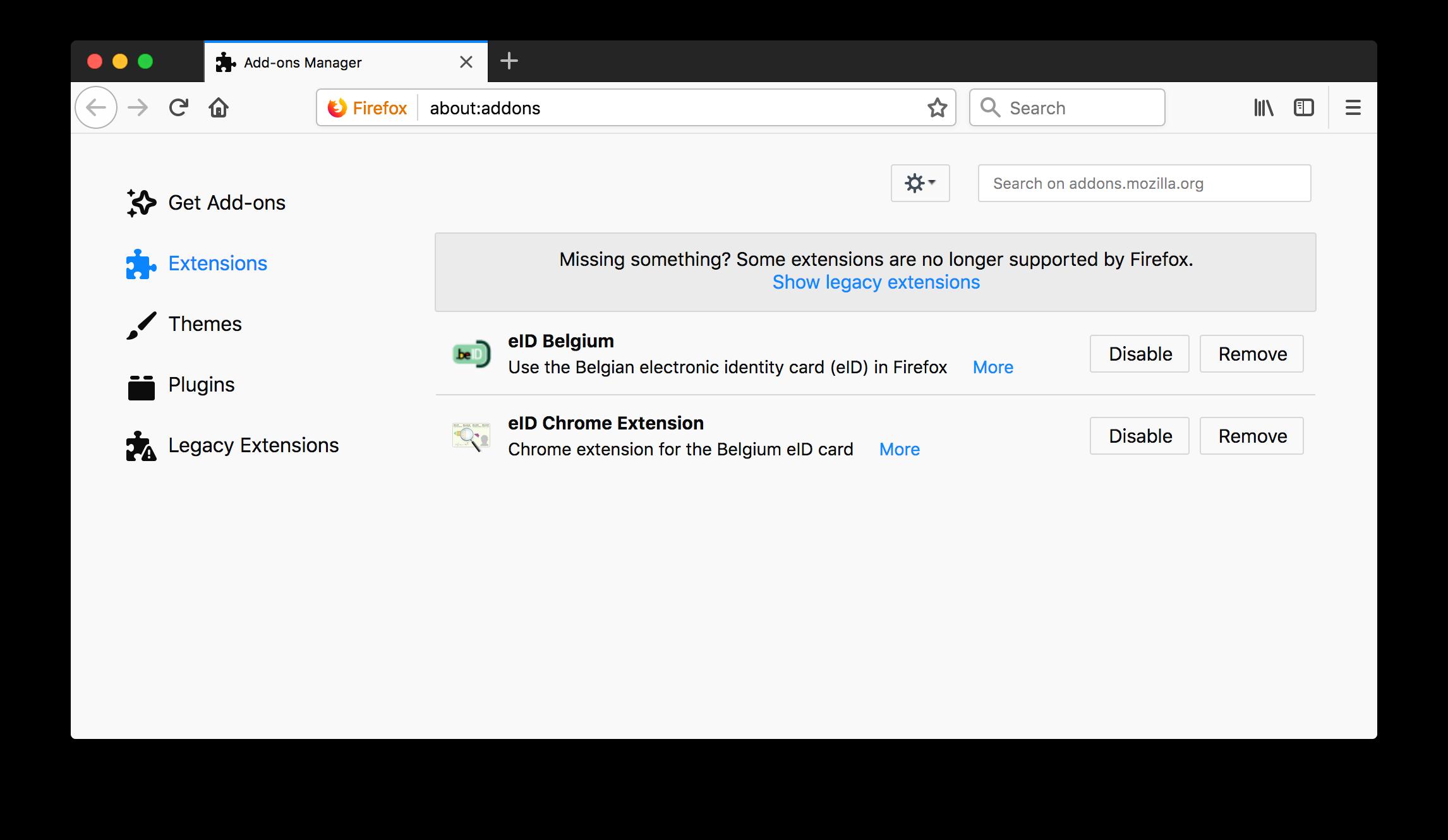 Addons Chrome